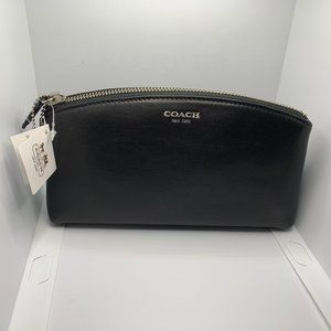 COACH BLACK LARGE COSMETIC CASE